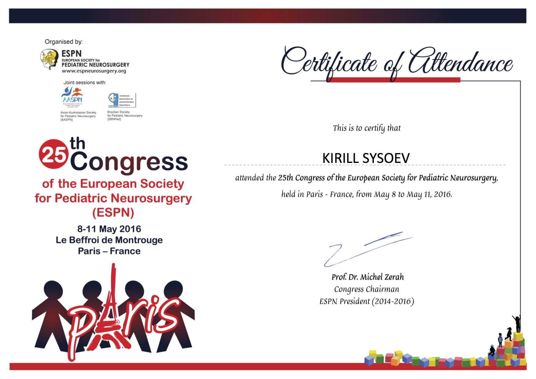 25th_ESPN_Congress_CERTIFICATE_OF_ATTENDANCE